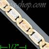 "14K Gold Valentino DC 3Color Chain 8"" 5.6mm"
