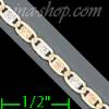 "14K Gold Valentino DC 3Color Chain 7"" 2.6mm"