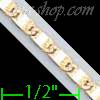 "14K Gold Bar Link Chain 16"" 2.5mm"