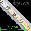 "14K Gold Bar Link Chain 16"" 2.7mm"