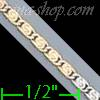 "14K Gold Bar Link Chain 14"" 1.9mm"