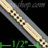 "14K Gold 3+1 Bead 2Line Chain 7"" 2.4mm"