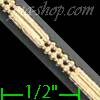 "14K Gold 3+1 Bead 2x2Line Chain 18"" 2.4mm"