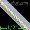 "14K Gold Solid Rope DC Chain 16"" 1.5mm"