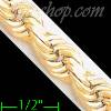 "14K Gold Solid Rope DC Chain 8.5"" 8mm"
