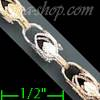 "14K Gold Marquise 3Color Chain 24"" 5mm"