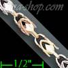"14K Gold Marquise 3Color Chain 20"" 4mm"