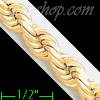 "14K Gold Solid Rope DC Chain 8.5"" 7mm"