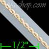 "14K Gold Super Light Hollow Rope Chain 20"" 1.5mm"