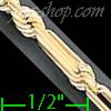 "14K Gold Open Figarope Chain 24"" 4mm"