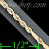 "14K Gold Open Figarope Chain 24"" 2mm"