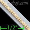 "14K Gold Popcorn Charm Necklace Chain 24"" 2mm"