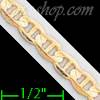 "14K Gold Mariner Concave Chain 20"" 4.3mm"