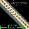 "14K Gold Cuban Yellow Pave Chain 18"" 2.5mm"