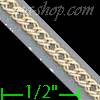 "14K Gold Double Open Link Chain 14"" 2.4mm"