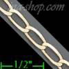 "14K Gold Open Link 1/1 Chain 7"" 4.1mm"