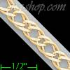 "14K Gold Double Open Link Chain 8"" 6mm"
