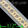 "14K Gold Double Open Link Chain 7"" 3.6mm"