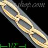 "14K Gold Micro-Casting Chain 8"" 6mm"