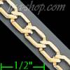"14K Gold Micro-Casting Chain 8"" 4.9mm"