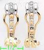 14K Gold Fancy CZ Sets Earrings