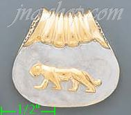 14K Gold Panther Collection Pendant
