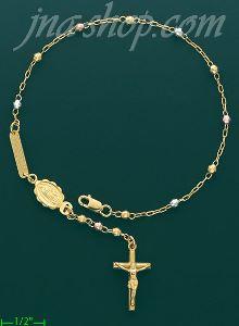 14k Gold Rosary Bracelet 7 5
