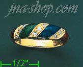 14K Gold Fancy Enamel Ring