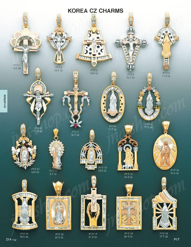 14K Gold Saint Lazarus CZ Charm Pendant P1713 109500 Gold