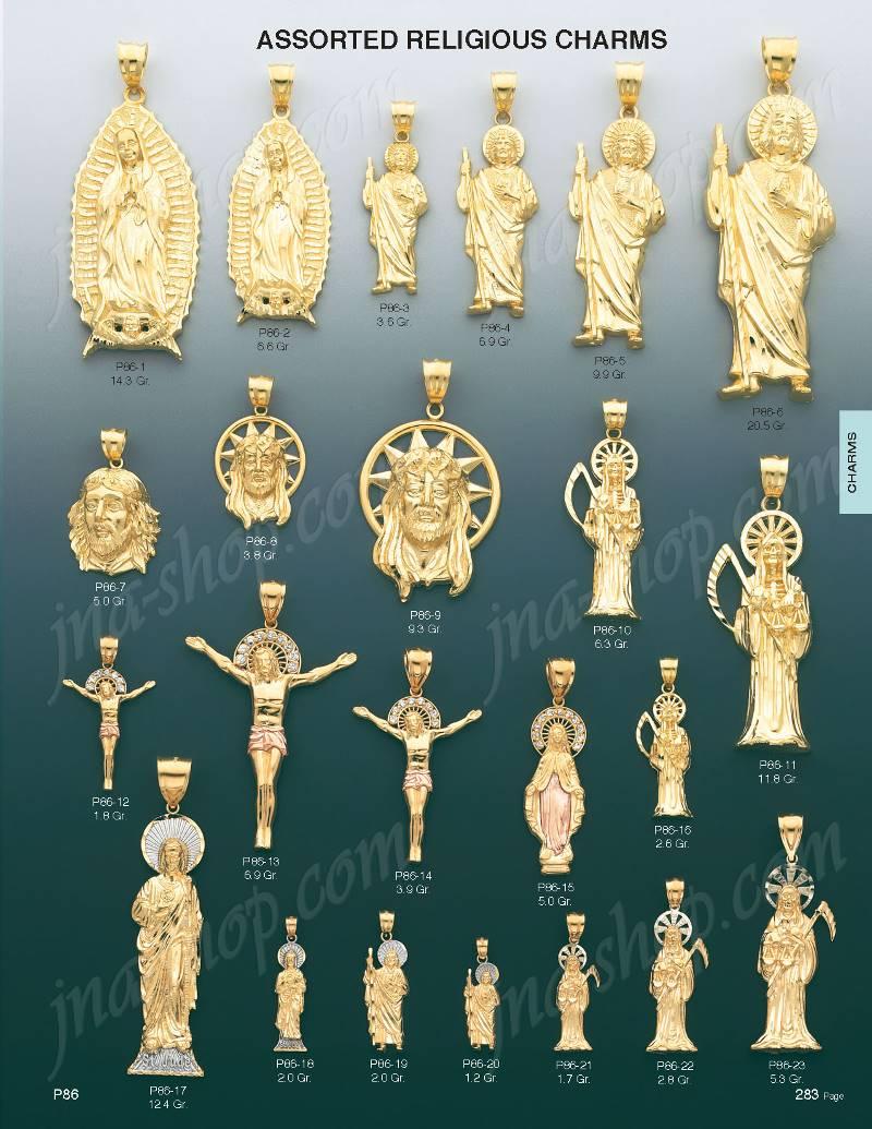 dc97fd5e22d 14K Gold Saint Jude Religious Charm Pendant [P86-6] - $1,384.00 ...